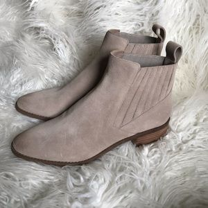 Dolce Vita taupe suede ankle boots